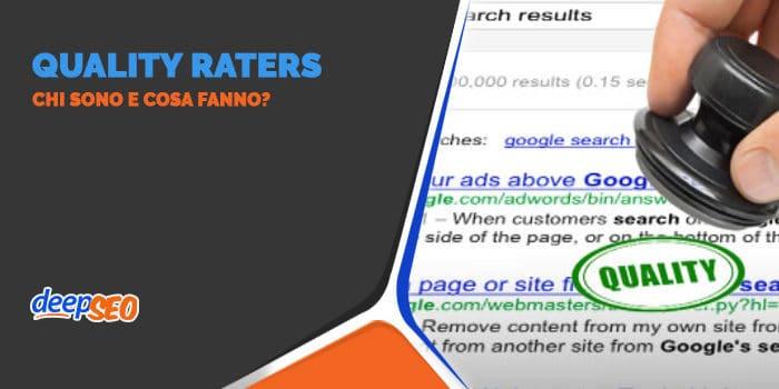 I Quality Raters chi sono e cosa fanno?