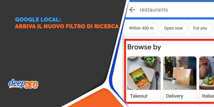 Google Local: novità per i ristoranti? Il filtro di ricerca