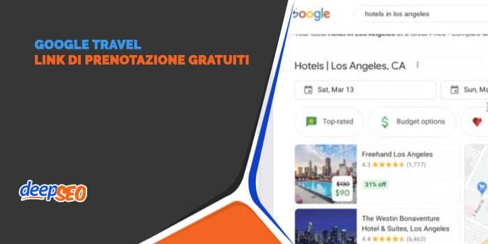 Google Travel: link di prenotazione gratuiti