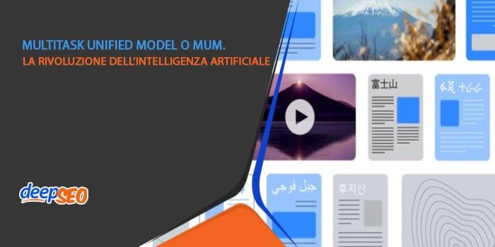 MUM: Multitask Unified Model