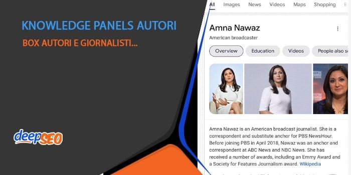 Google testa il carosello degli autori tramite knowledge panels