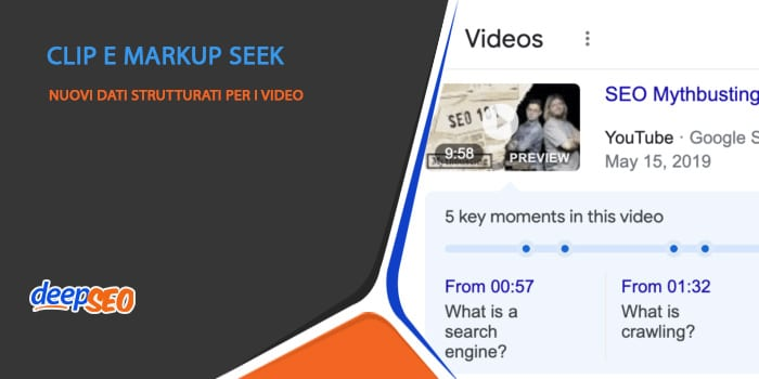 Dati strutturati per i video con Clip e markup Seek